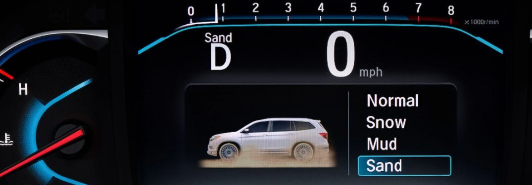 Close Up of Honda Pilot Information Display with Intelligent Traction Management Terrain Modes