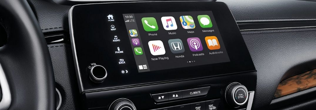 Close Up of Apple CarPlay in a 2020 Honda CR-V