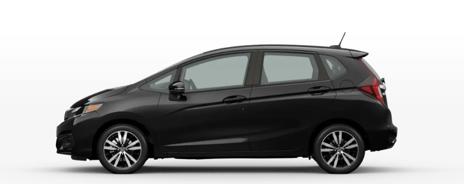 Crystal Black Pearl 2020 Honda Fit on White Background