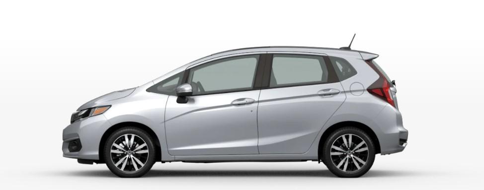 Lunar Silver Metallic 2020 Honda Fit on White Background