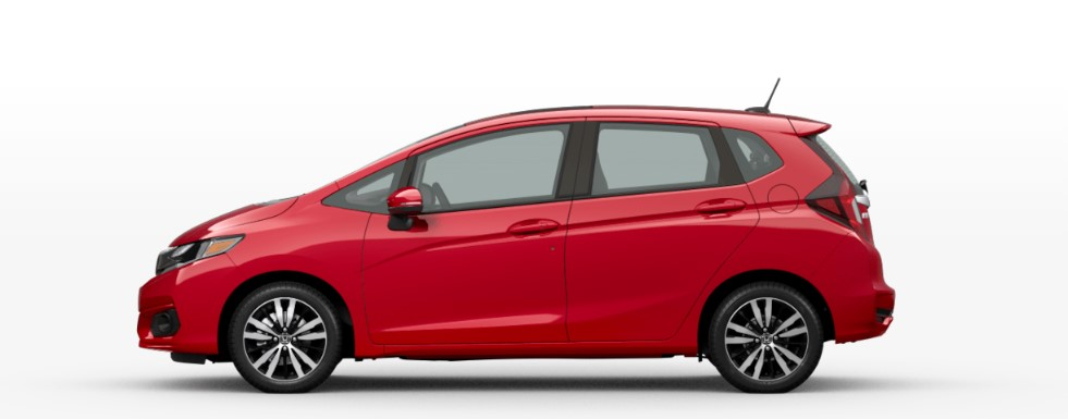 Milano Red 2020 Honda Fit on White Background