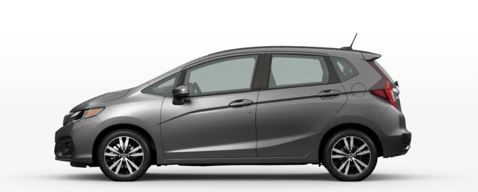Modern Steel Metallic 2020 Honda Fit on White Background