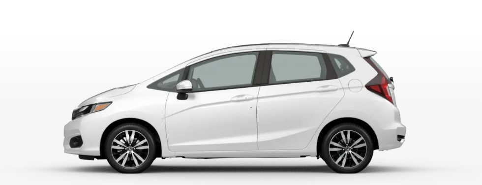 Platinum White Pearl 2020 Honda Fit on White Background