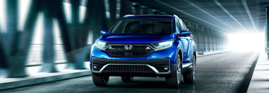 Blue 2020 Honda CR-V in a Bridge Tunnel