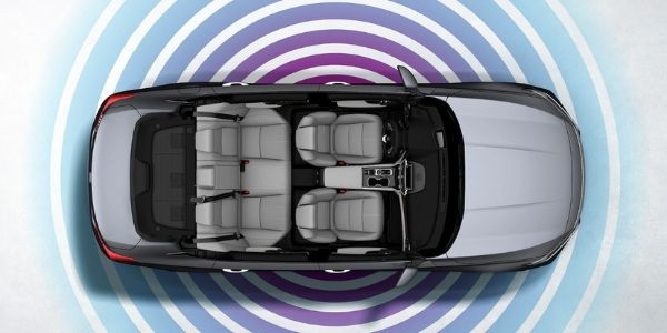 Overhead View of 2020 Honda Accord with Wi-Fi Signal Graphic