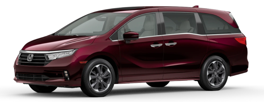 Deep Scarlet Pearl 2021 Honda Odyssey on White Background