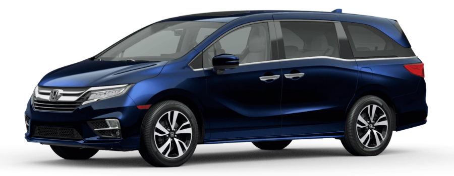 Obsidian Blue Pearl 2021 Honda Odyssey on White Background