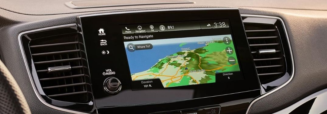 Close Up of 2020 Honda Passport Display Audio Navigation
