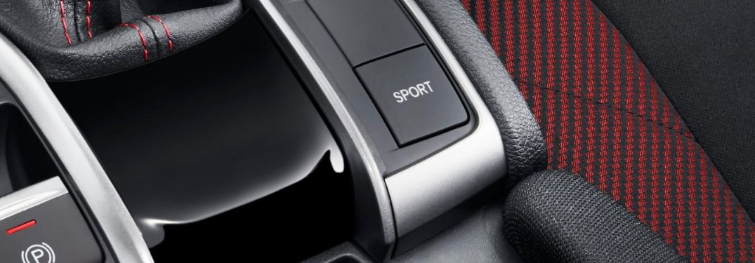 Close Up of 2020 Honda Civic Si Sport Mode Button