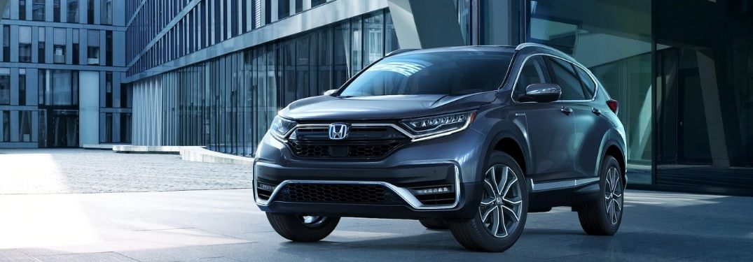 Gray 2021 Honda CR-V in a Parking Lot