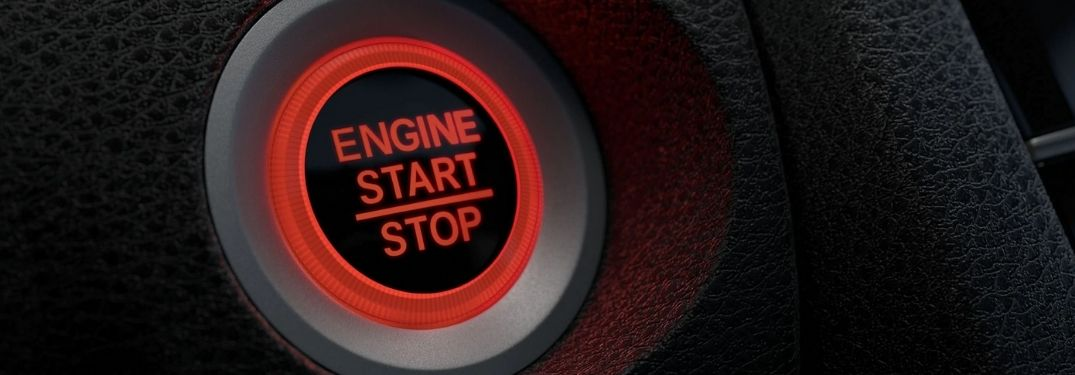 Close Up of 2021 Honda Civic Push Button Start Button