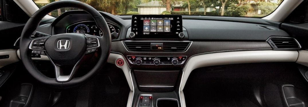 2021 Honda Accord Steering Wheel, Dashboard and Display Audio Touchscreen