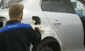 Repairs at Hall Automotive and Collision Center Auto Body repair shop.