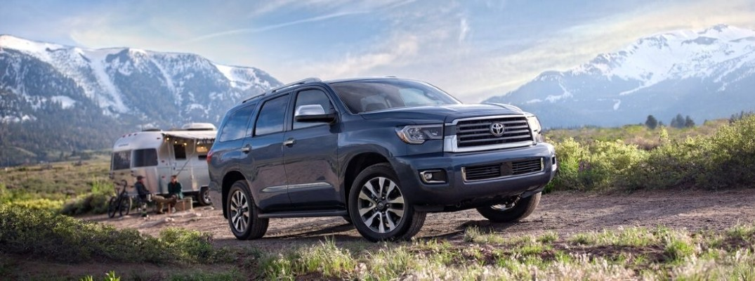 2020 Toyota Sequoia towing a camper