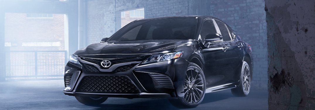 2020 Toyota Camry parked inside a warehouse