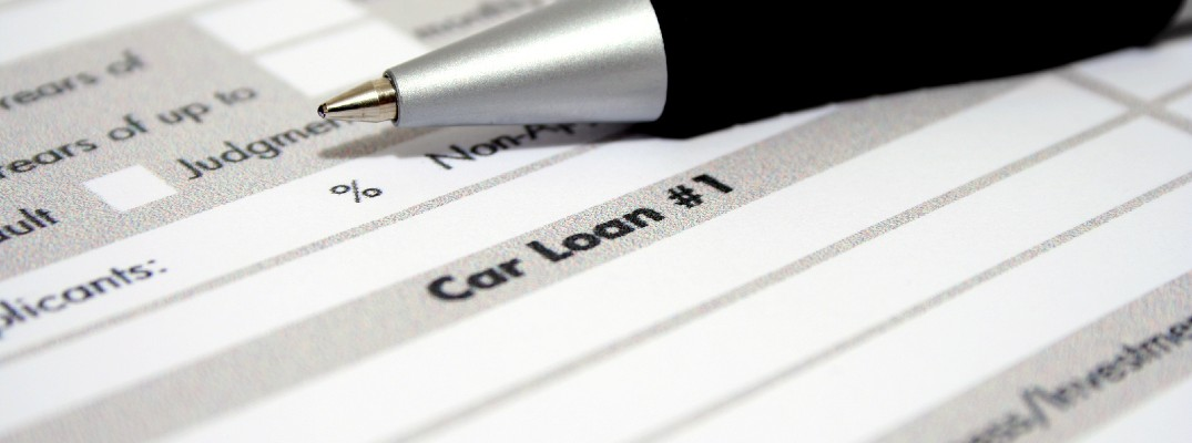 A stock photo of some loan paperwork.
