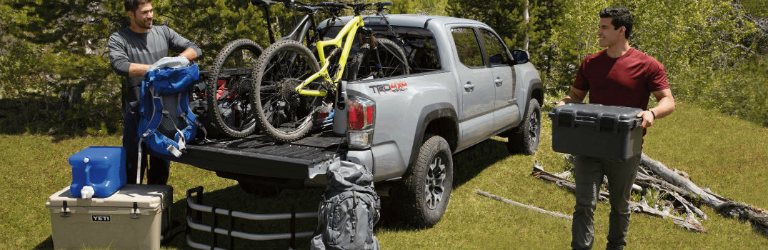 2020 Toyota Tacoma Exterior Passenger Side Rear Profile with Full Payload