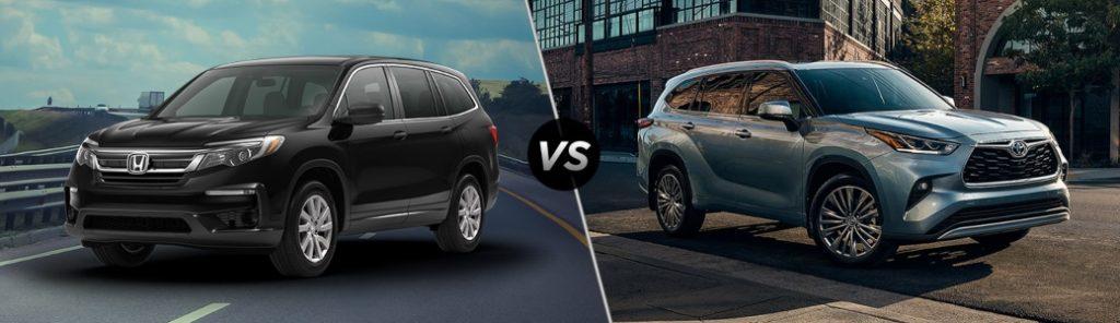 2021 Honda Pilot vs 2021 Toyota Highlander