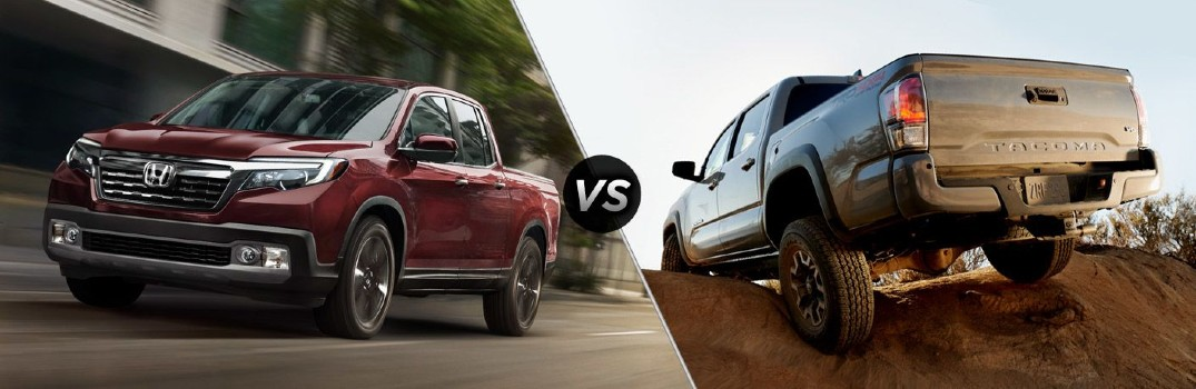 See how the 2021 Toyota Tacoma and 2021 Honda Ridgeline Compare with this Video