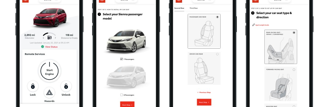 Toyota Family Toolkit Car Seat App Examples