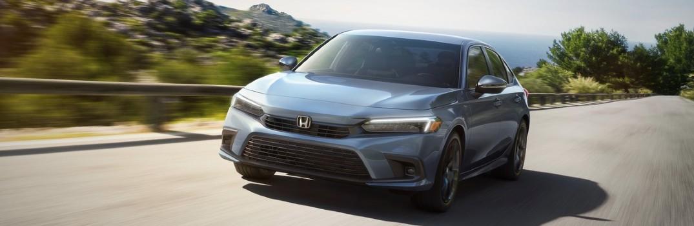 2022 Honda Civic Sedan Sport Exterior Driver Side Front Angle