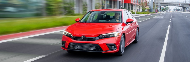 2022 Honda Civic Sedan Touring Exterior Driver Side Front Angle
