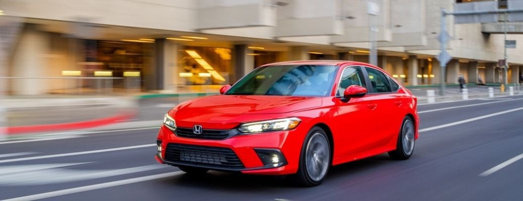 2022 Honda Civic Sedan front quarter view