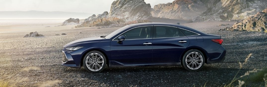 2021 Toyota Avalon Left-side view parked in a beach