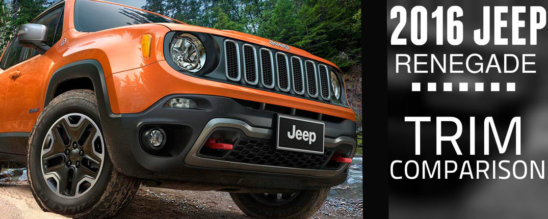 2016 Jeep Renegade Sport vs Latitude vs Limited