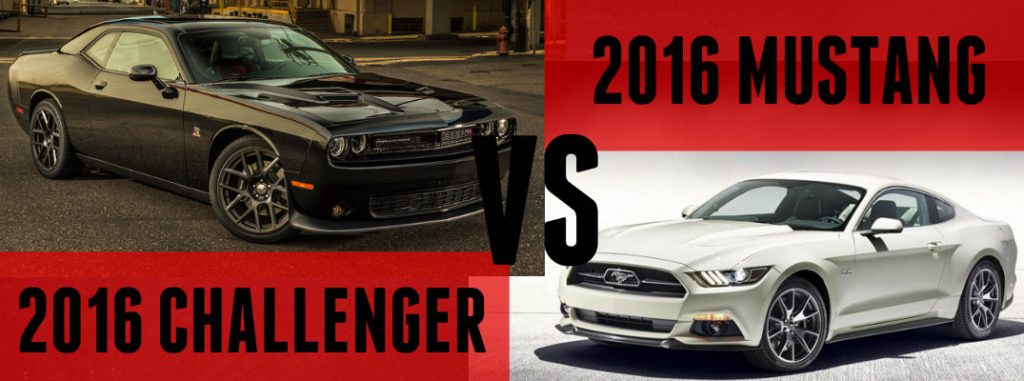 2016 dodge challenger vs 2016 ford mustang for Ford motor company pre employment test