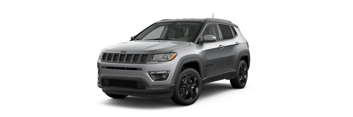 2019 Jeep Compass Altitude Billet Silver Metallic Clear-Coat Black Clear-Coat