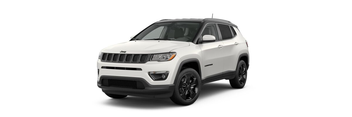 2019 Jeep Compass Altitude White Clear-Coat Black Clear-Coat