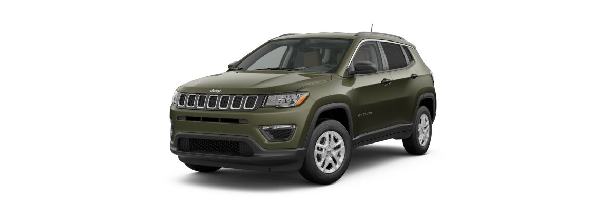 2019 Jeep Compass Sport Olive Green Pearl-Coat