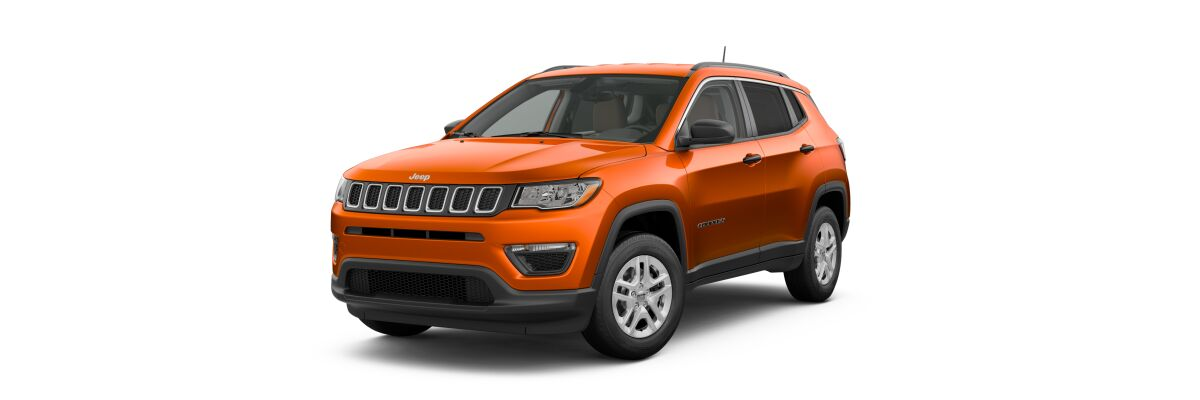 2019 Jeep Compass Sport Spitfire Orange Clear-Coat