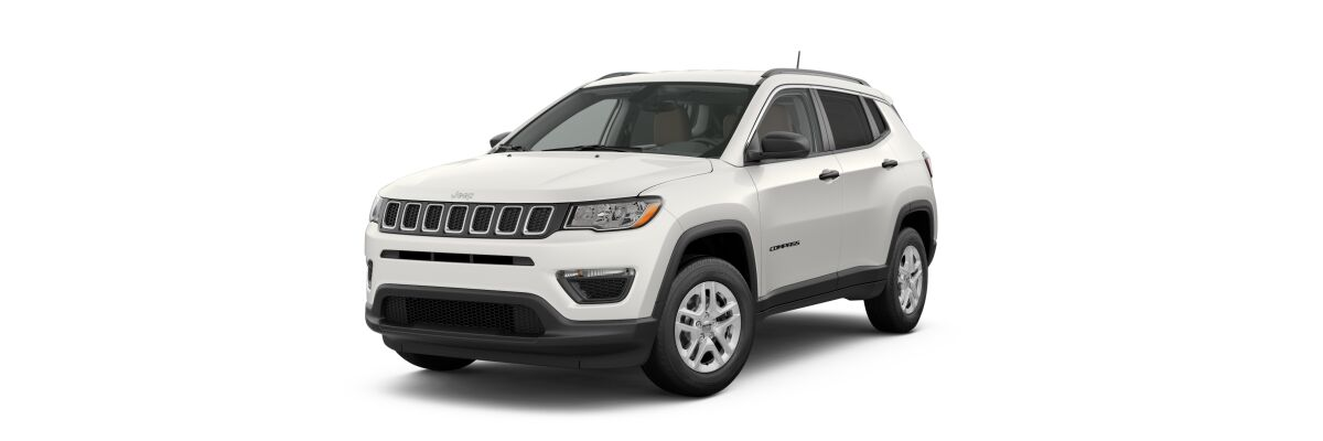 2019 Jeep Compass Sport White Clear-Coat