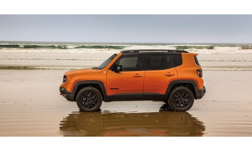 How Much Is A Paint Job >> 2019 Jeep Renegade Exterior Side Shot Orange Paint Job Parked On A