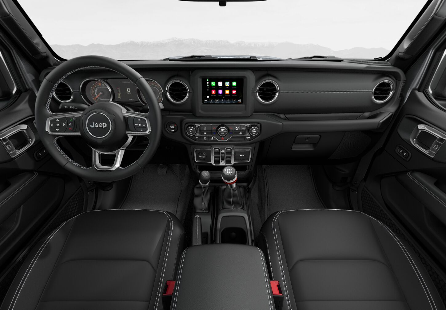 2020-Jeep-Gladiator-Black-Leather-Trimmed-interior-seating ...