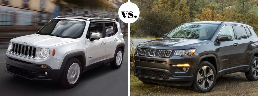 Jeep Renegade and Compass models in comparison photo