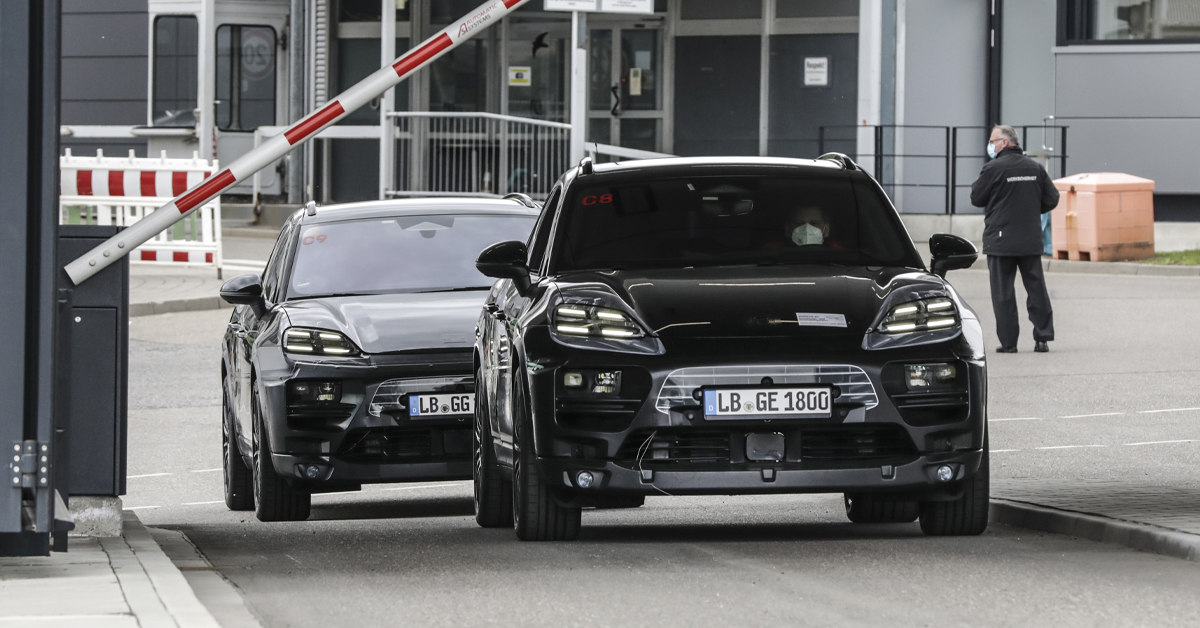 Prototypes of the all-electric Macan: both digital and real