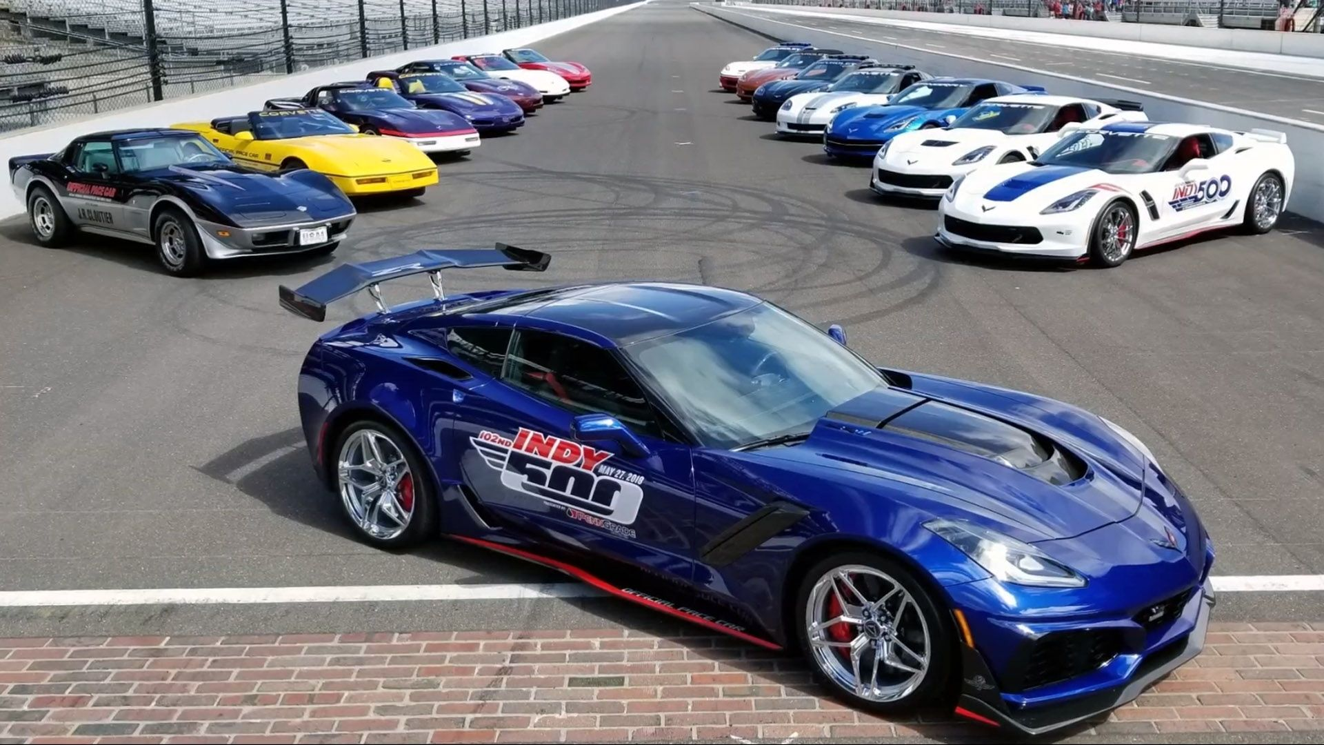 The Chevrolet Corvette Becomes The Pace Car For The 2020 Indy 500 For The 17th Time