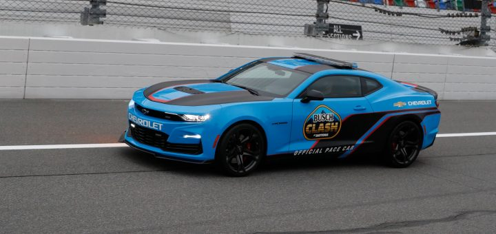 The C8 Corvette's Rapid Blue Becomes More Inclusive With The Camaro Pace Car