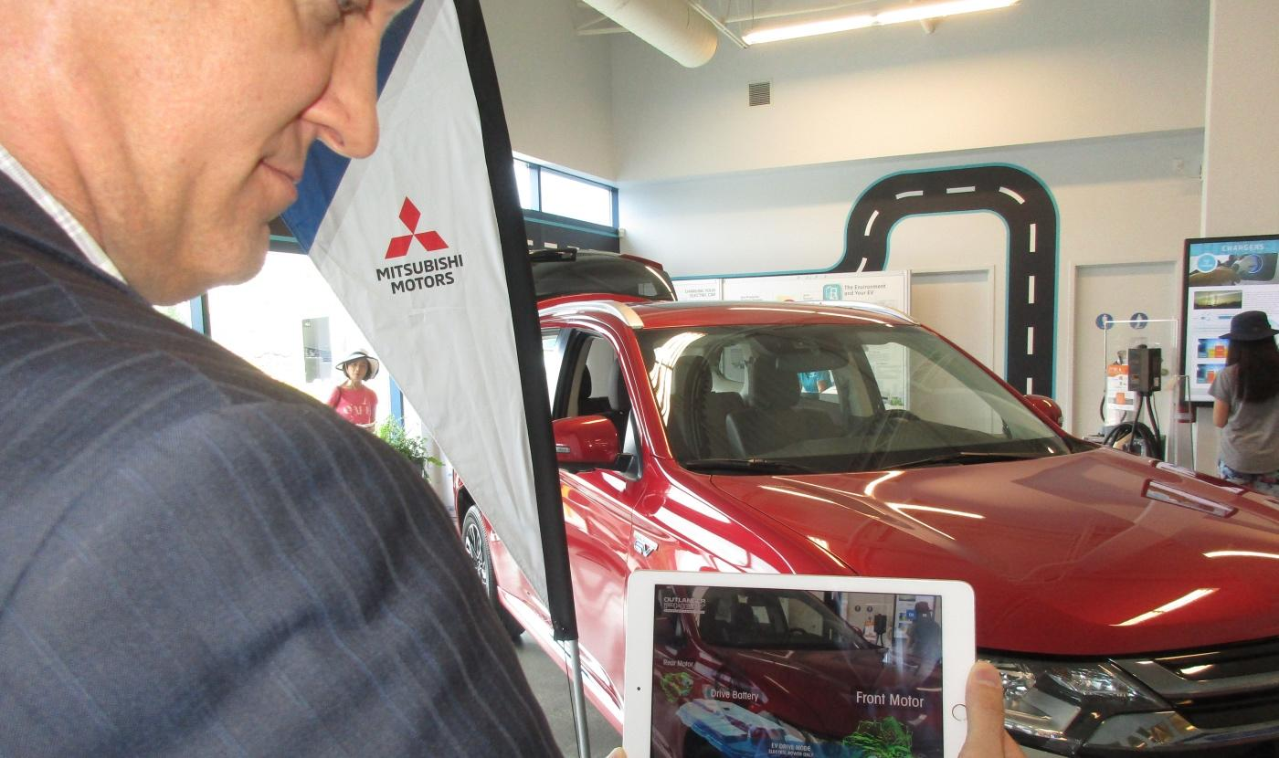 Mitsubishi Uses Augmented Reality to Help Explain Vehicle Tech