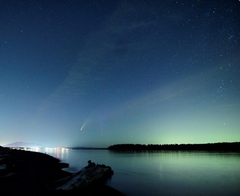 Watch the NEOWISE Comet through a Mitsubishi Sunroof