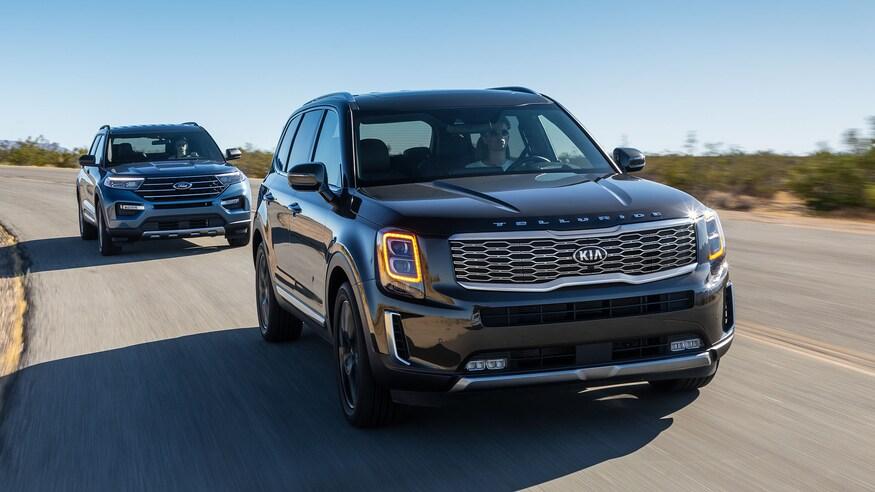 Comparison of 2020 Kia Telluride and 2020 Ford Explorer