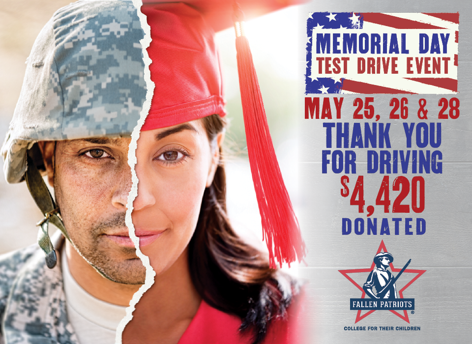 Memorial Day 2018 Test Drive Charity Event