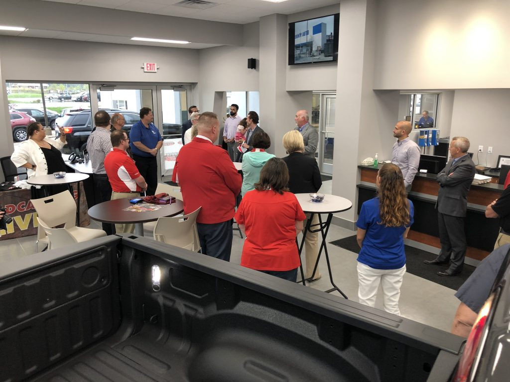 Van Horn CDJR Grand ReOpening Dealership Interior