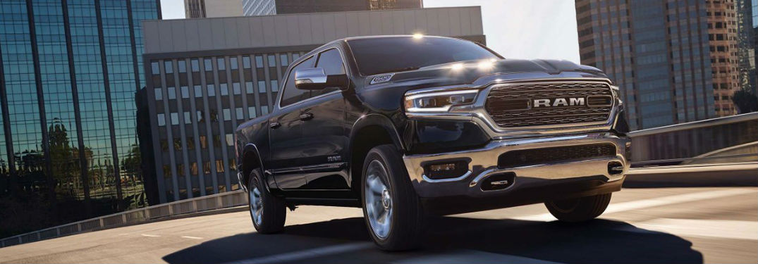 2019 Ram 1500 driving down the street