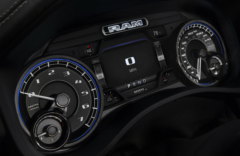 Instrument panel in 2019 Ram 1500