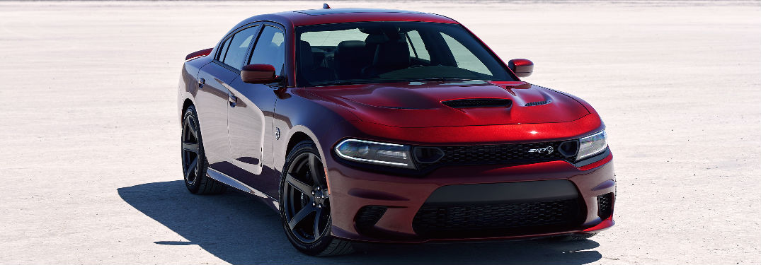 red 2019 Dodge Charger parked