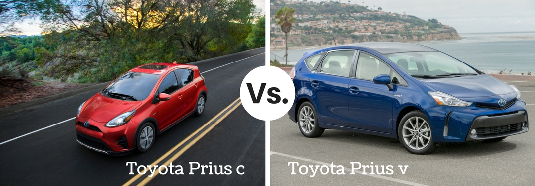 What's the difference between the Prius c and Prius v?